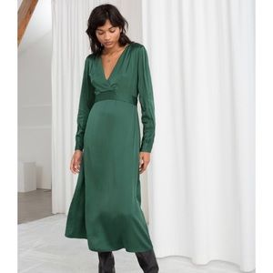 NWT! & Other Stories emerald green midi dress